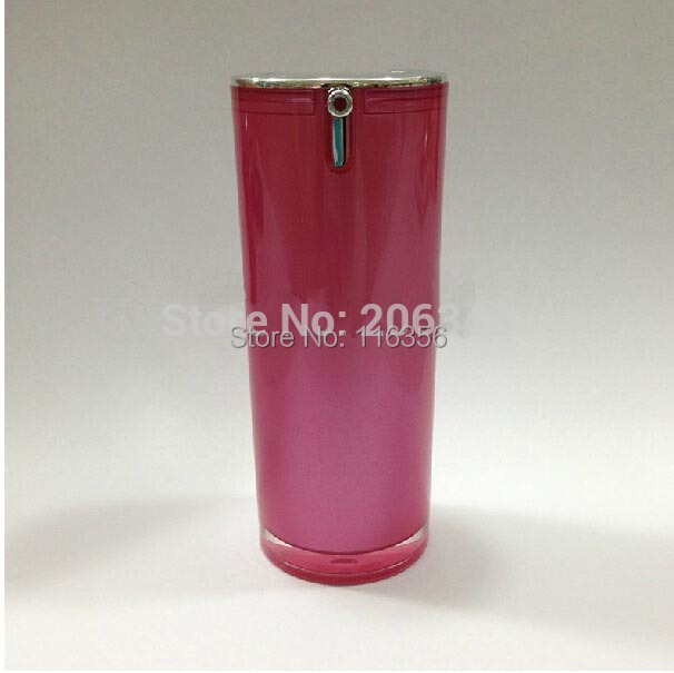 15ML dark pink acrylic airless bottle with airless pump can used for BB cream or serum or founation or lotion packing<br><br>Aliexpress