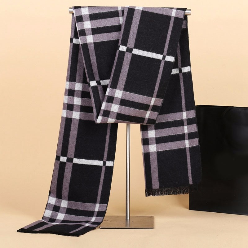 Fashion mens cashmere scarf luxury brand big size plaid blanket scarf men winter warm scarves cachecol collar for Christmas gift