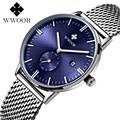 Water Resistance Watches Men Brand WWOOR Men s Quartz Watch Business Dress Watch Blue Dial Men