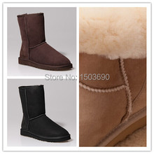 real sheepskin snow boots for women, lady's designer fashion boots, winter classic colors boots, accept drop shipping(China (Mainland))