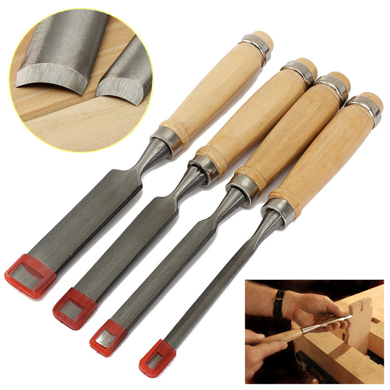 High Quality New Arrival 4pcs/Set Carving Set Wood gouge Chisel Woodworking Tool Tools Handle Hand Diy<br><br>Aliexpress