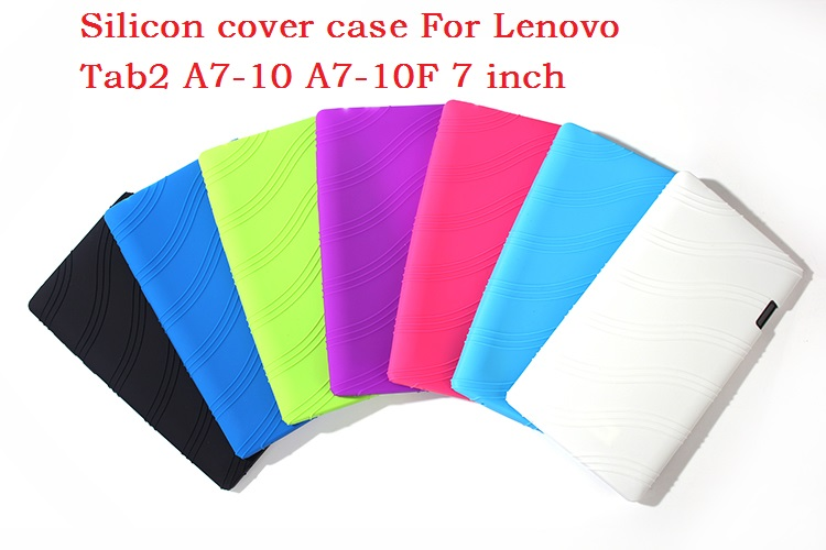 New Arrive Lenovo Tab2 A7-10 Case High Quality Silicon Cover Case for Lenovo Tab 2 A7-10 A7 10 A7-10F 7 inch Tablet PC+7 Colors<br><br>Aliexpress