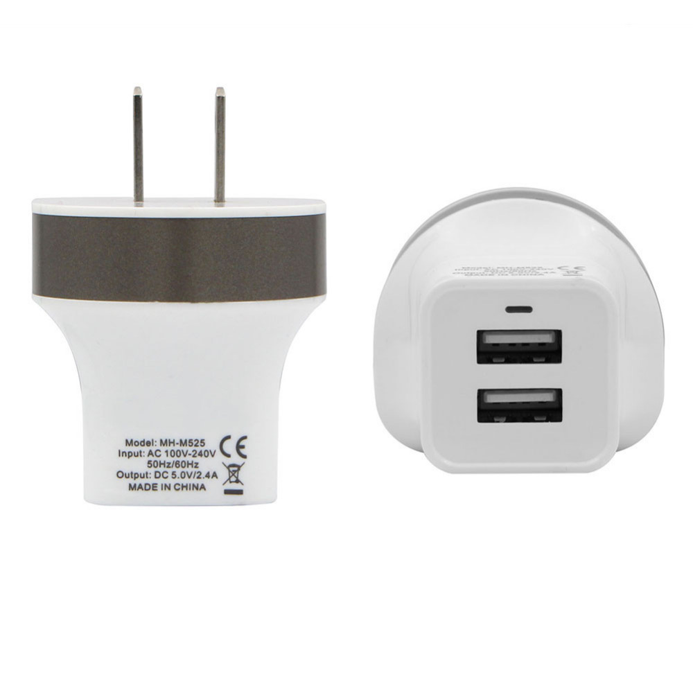 High Speed US Plug USB Wall Charger Power Supply Dual USB Ports Portable Power Adapter For Samsung HTC For Iphone Xiaomi Charger(China (Mainland))