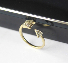 1 Pcs Gold Silver Fashion Jewelry Adjustable Midi Ring Cupid One Arrow Ring For Woman Free