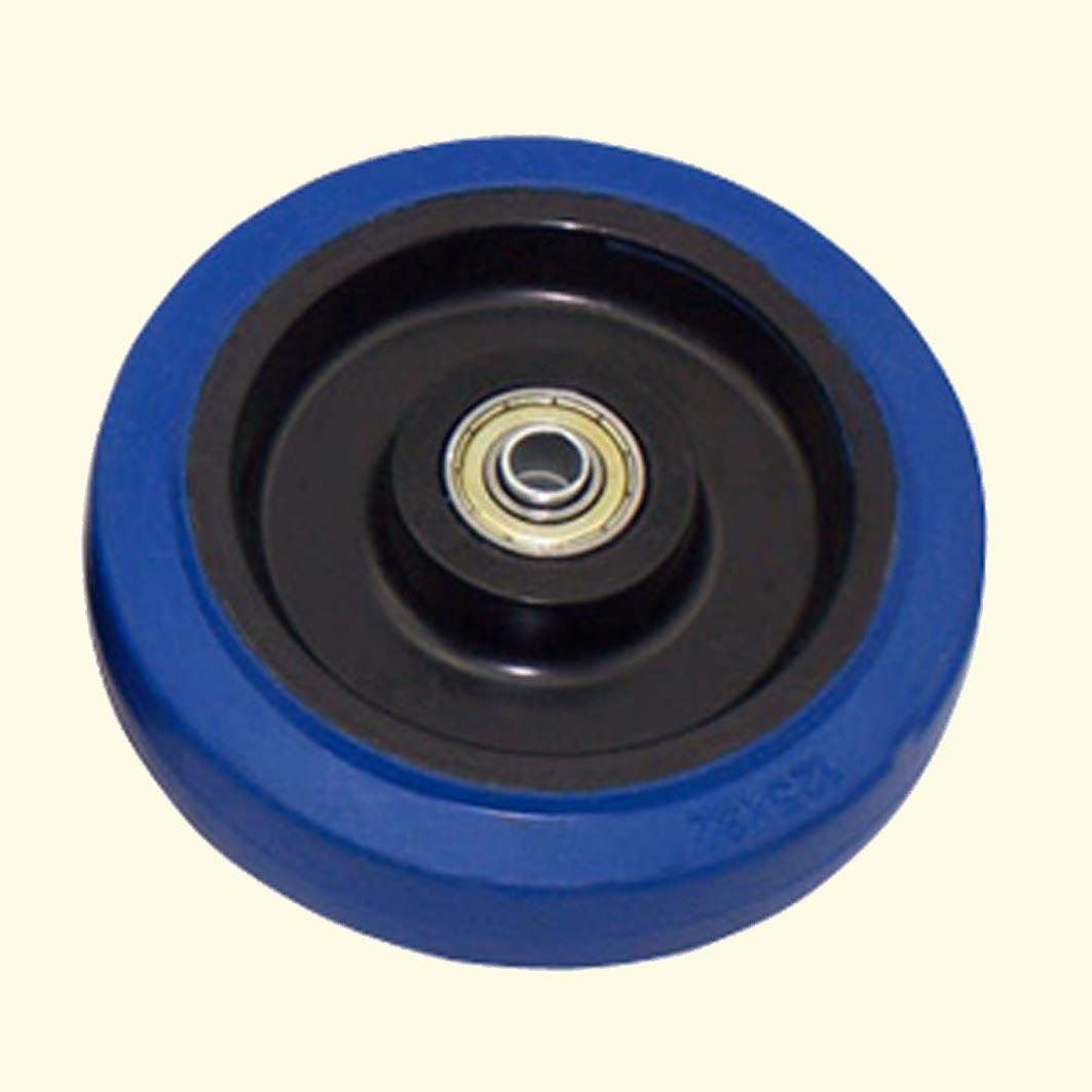 Medium-sized 5-inch round piece biaxially elastic rubber mute single round flat wheel trolley caster wheels industrial wheel<br><br>Aliexpress