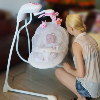 .com : Buy top design baby rocking chair appease electric cradle baby ...