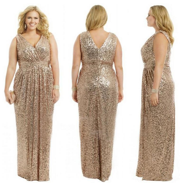 Gold plus size cocktail dress