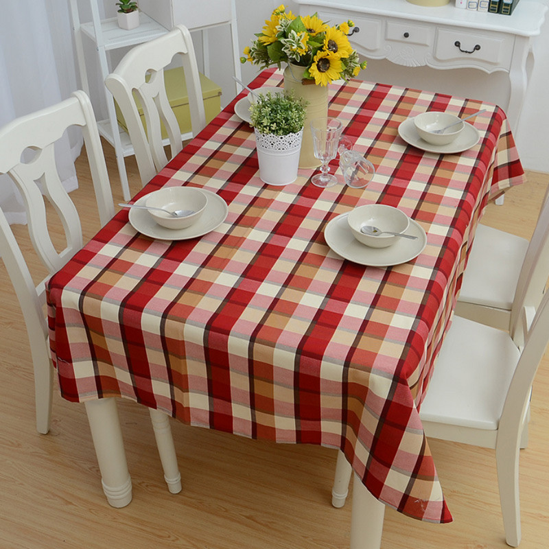 round table cloth cotton polyester plaid tablecloth print. Black Bedroom Furniture Sets. Home Design Ideas