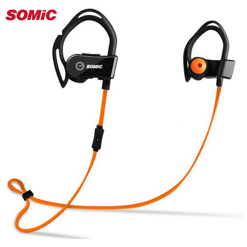 Original SOMIC S3 Intelligent Heart Rate Monitor Sport HIFI Wireless Bluetooth Earphone With Mic Ear Hook Headset One To Two(China (Mainland))