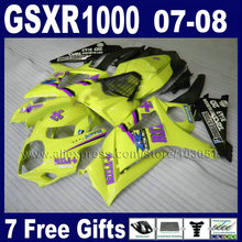 ABS motorcycle fairings kits 2007 SUZUKI K7 K8 2008 GSXR 1000 08 GSXR1000 07 yellow fairing bodywork HG04parts - Xinfeng plastic products Co., Ltd store