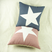 Two-tone stars cotton throw pillow