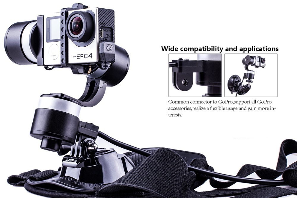 Zhiyun Newest Z1-rider2 hidding wires gopro stabilizer split design for skiing and motocycle for camera hero 2.3.4<br><br>Aliexpress
