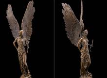 Art Deco Sculpture Angel Warrior Soldier Goddess Of Victory Bronze Statue Signed R0713