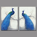 Art Retro Blue peacock children living room kids decoration canvas birds painting printed wall art pictures
