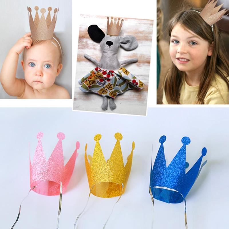 6PCS Prince Princess Crown Hat For Kids Baby Souvenirs Wedding Favors Party Birthday Cap Bridal Graduation Gifts #45(China (Mainland))