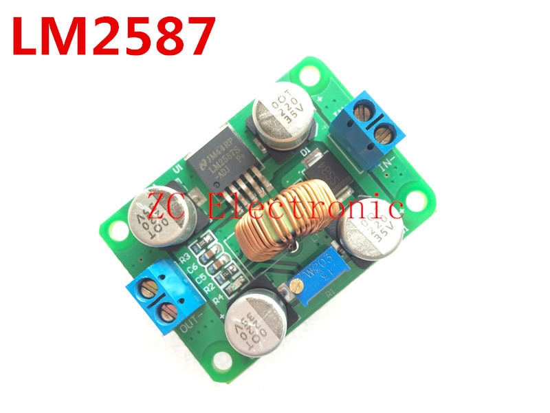 Free shipping! 5PCS/LOT LM2587 DC-DC power modules boost module over lm2577 (Peak 5A) DC Step-Up Converter Module(China (Mainland))
