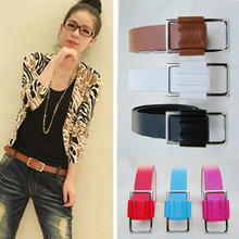 Buy Free new belts popular european style trench buckle wide cummerbund fashion noble lovely strap thin leather belt female for $3.88 in AliExpress store
