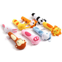 1pc Soft Stuffed Baby's Grasping Toys Bibi Squeaker Rods Baby Toys Novelty Baby Animal Toy New Arrival High Quality HO677851