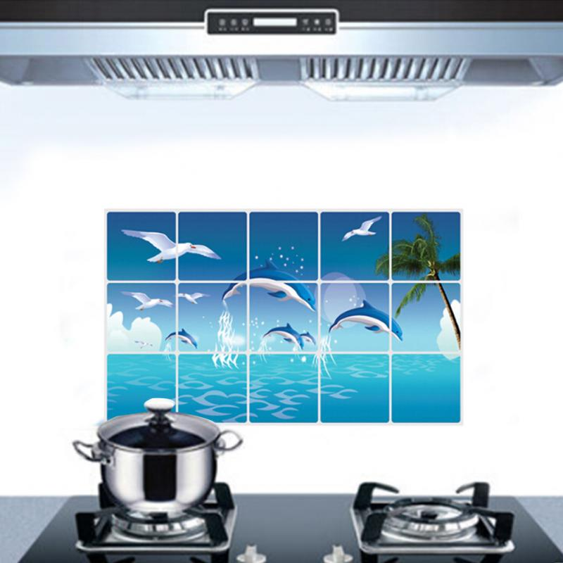 dolphin kitchen waterproof sticker bathroom tile for wall dolphin theme decor house amp home