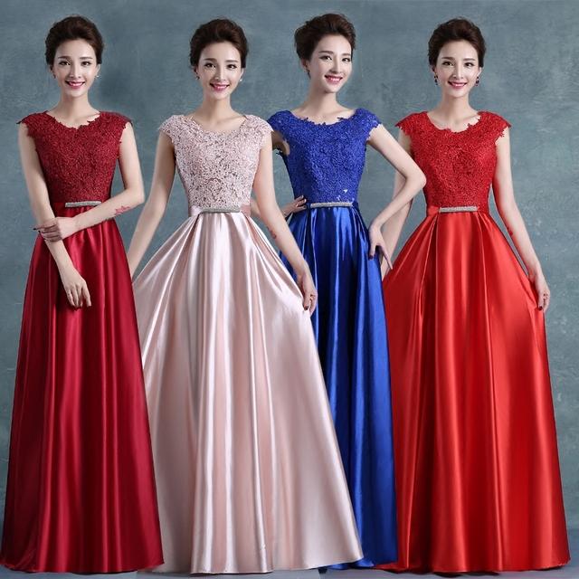 Формальных мать невесты платье лонго дизайн шелковый шнурок вечерние платья с задней ...