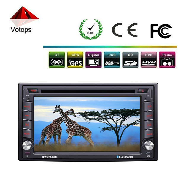 Universal 2din dvd gps for cars with bluetooth/VCD/MP3/mp4/car radio