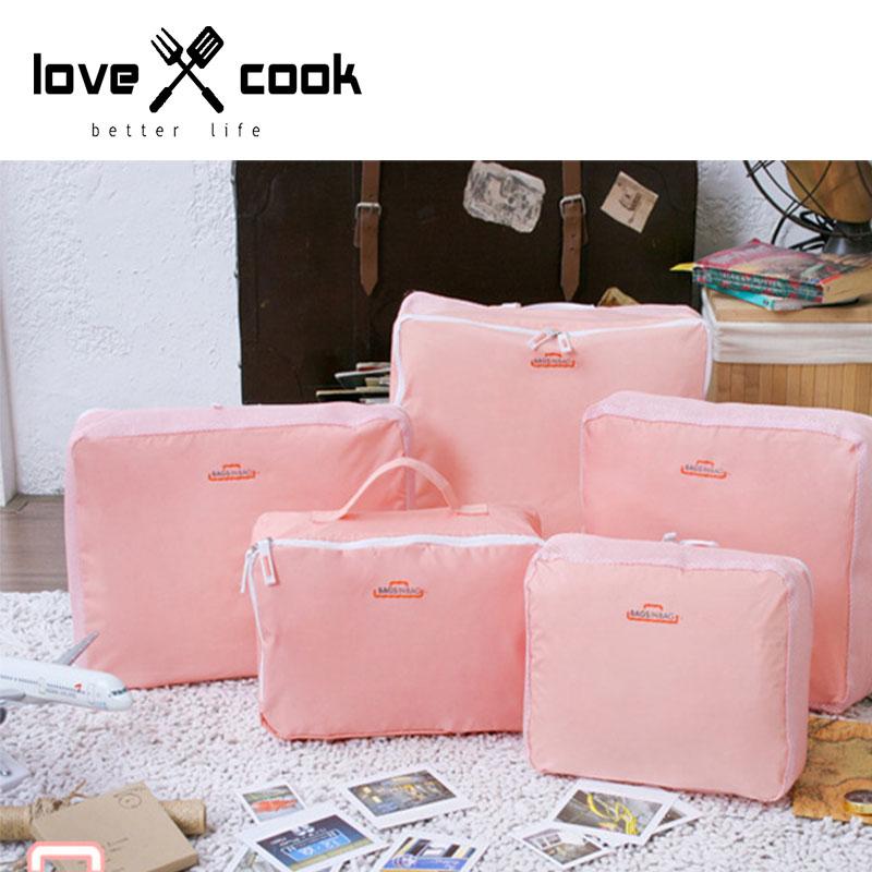 5 pieces/set Korean Home travel waterproof nylon environmental clothes Storage bag sorting bags free shipping(China (Mainland))