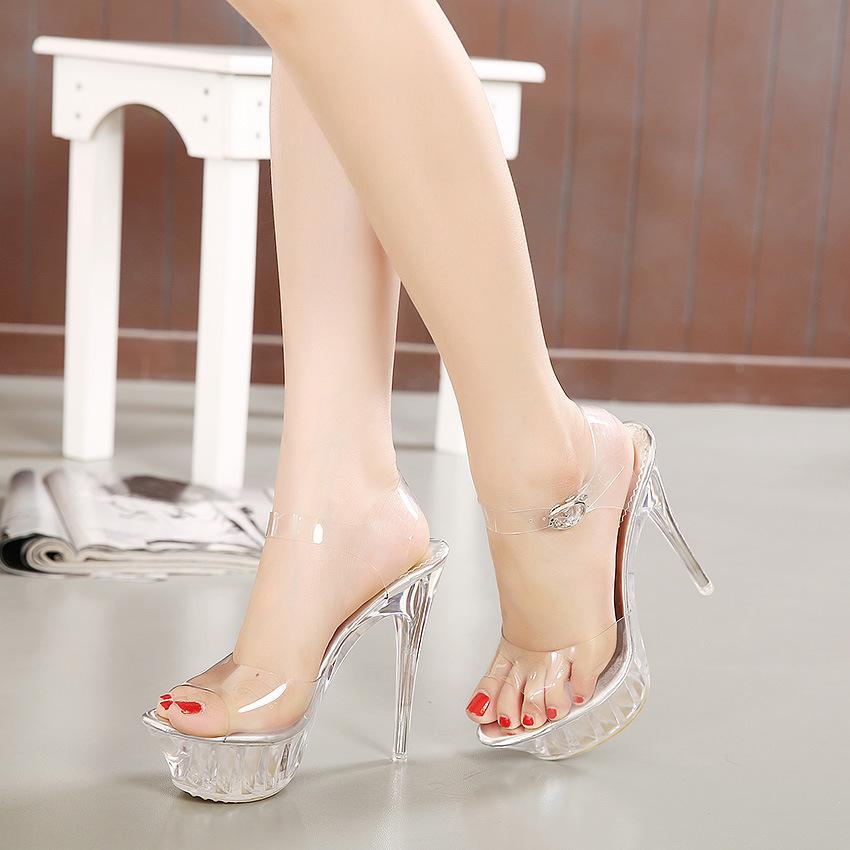 Zapatos de stripper con jarra de punta