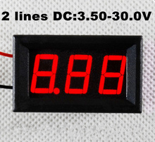 """Buy 10 pcs high accuracy Mini Digital Voltmeter DC 3.5v-30.0V 0.56 """" Red LED 2 Wire LED Voltage Panel Meter tester for $17.58 in AliExpress store"""