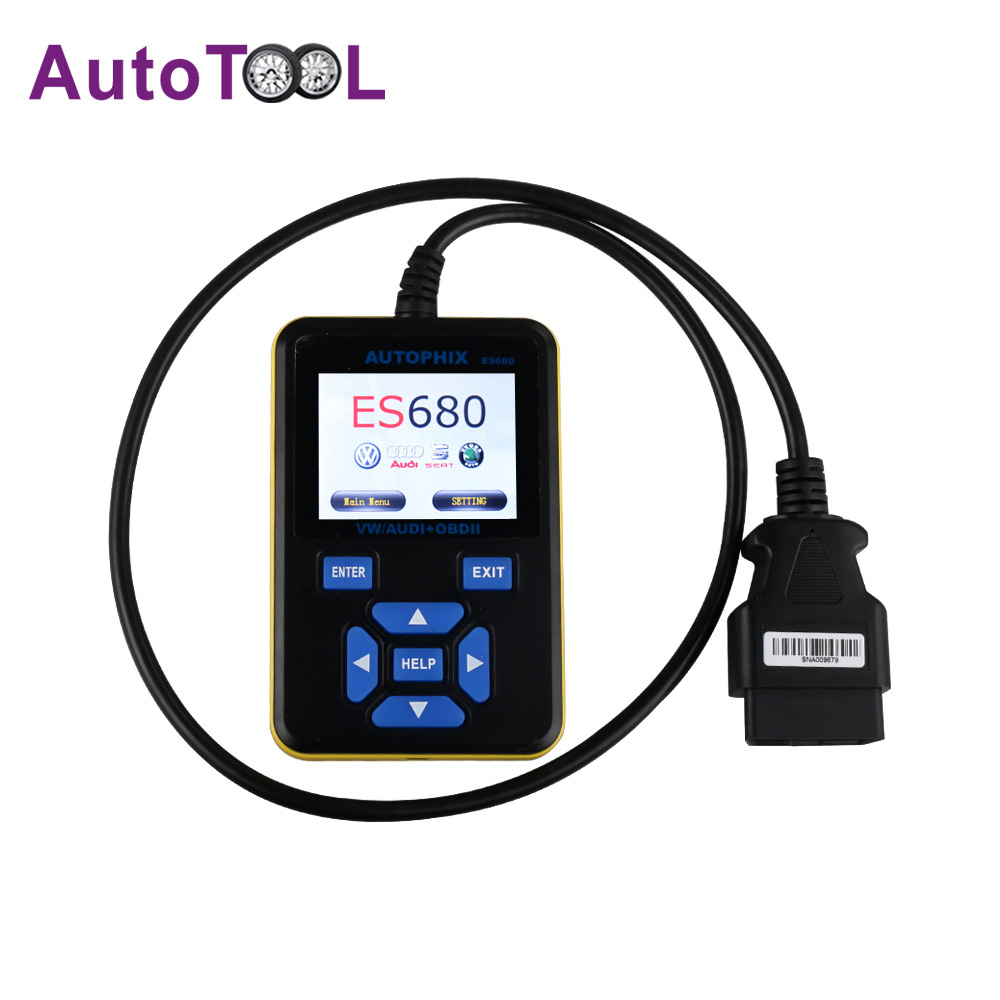 AUTOPHIX E-SCAN ES680 VAG RPO+OBD Scanner Multi Languages OBDII With Oil Reset and Srs Reset For VW Audi Seat Skoda(China (Mainland))