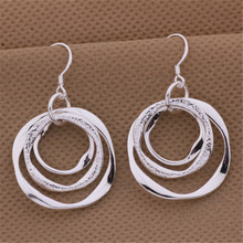 new factory wholesale AE542 fashion  silver plated earrings high quality elegant cute women classic jewelry LAYD lovly gift(China (Mainland))
