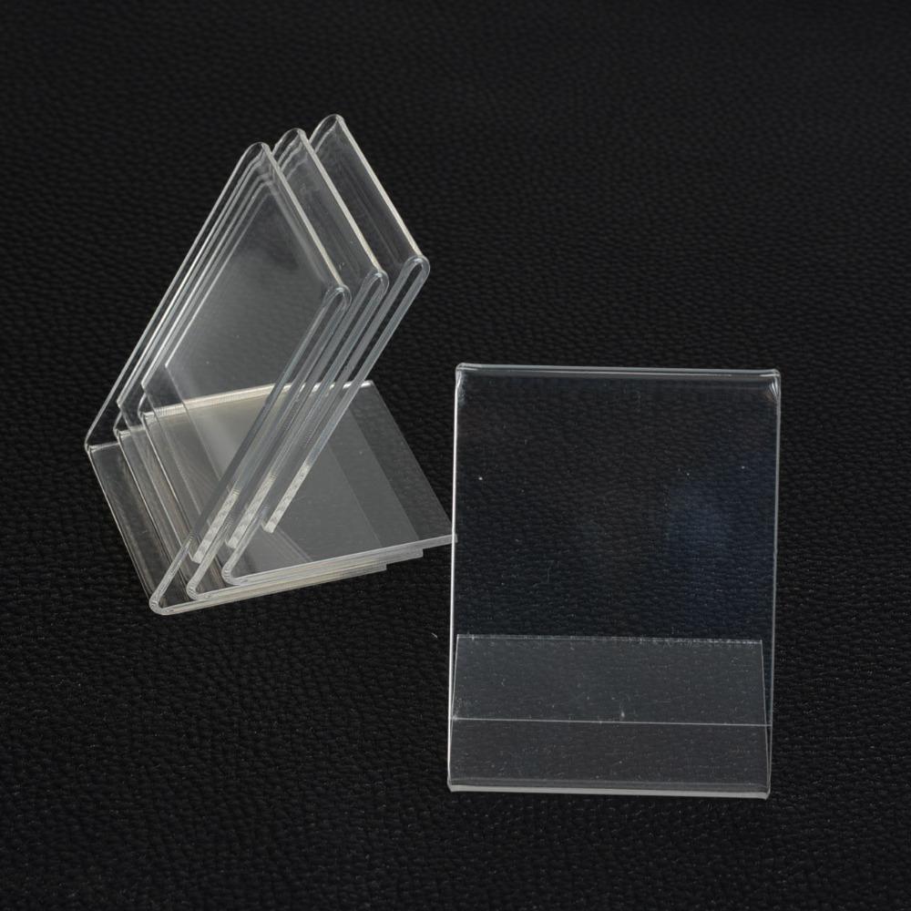 Kalliope 10pcs 5*7CM Clear Acrylic Namecard Price Tag Advertisement Display Stand Holder,Showcase Fashion Jewelry Display(China (Mainland))
