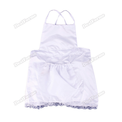 dealforme Wonderful! Cute Baby Infant Cook Costume Photo Photography Prop Newborn Hat+Aprons White Big saving(China (Mainland))