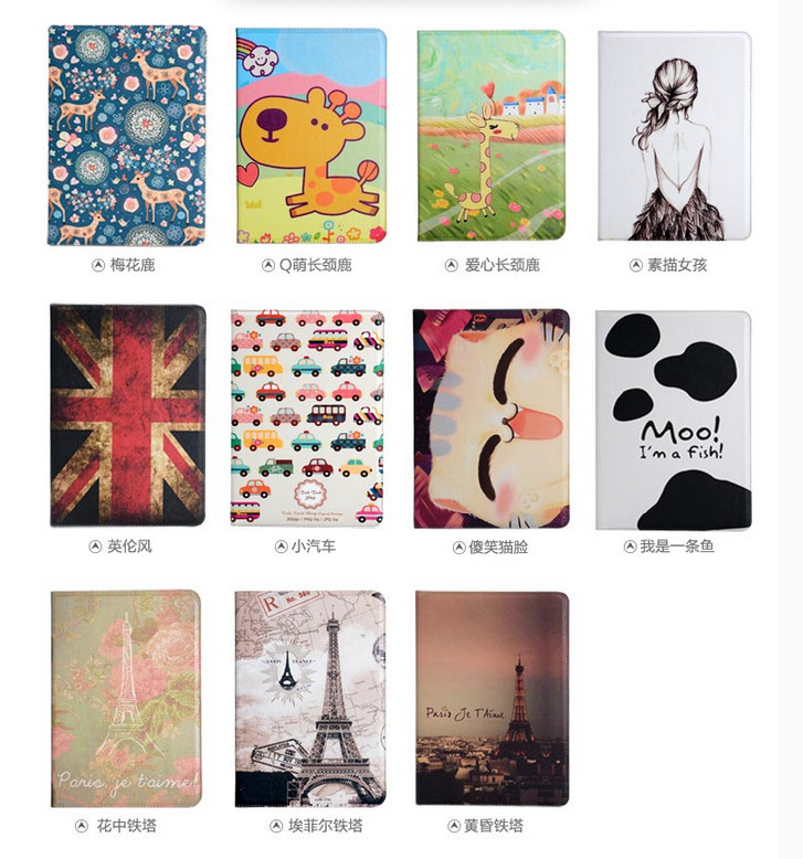 Fashion Painted Style for Samsung Galaxy Note 10.1 N8000 N8010 Magnetic Leather filp stand cartoon Case for samsung n8000(China (Mainland))