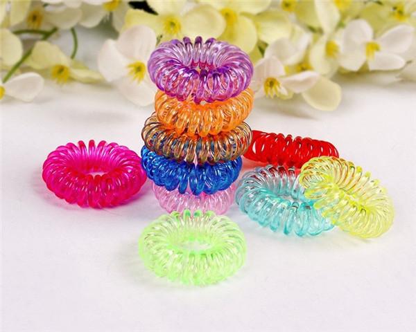 10pcs 2.5cm Elastic Hair Bands Hair Accessories Women Headband Hair Ring Band Rope Gum for Hair Tie Headwears Rubber Hairband(China (Mainland))