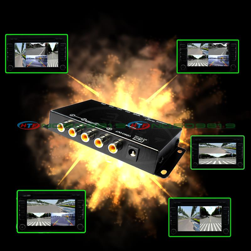 car camera quad control system box for rear left front right view camera All round view at the same time IR control(China (Mainland))