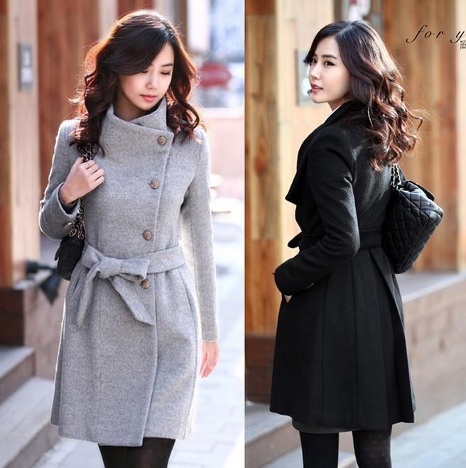 Plus Size Clothing Free Shipping 2015 Autumn Winter New Korea Fashion Women 39 S Wool Coat Casual
