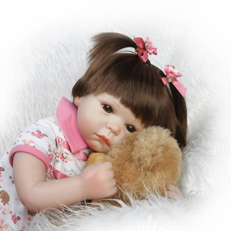 Super Cute 52cm , 20'' Reborn Dolls Babies With Handmade Beautiful Clothes High End Brand Birthday Gift Best Brinquedos Infantis(China (Mainland))
