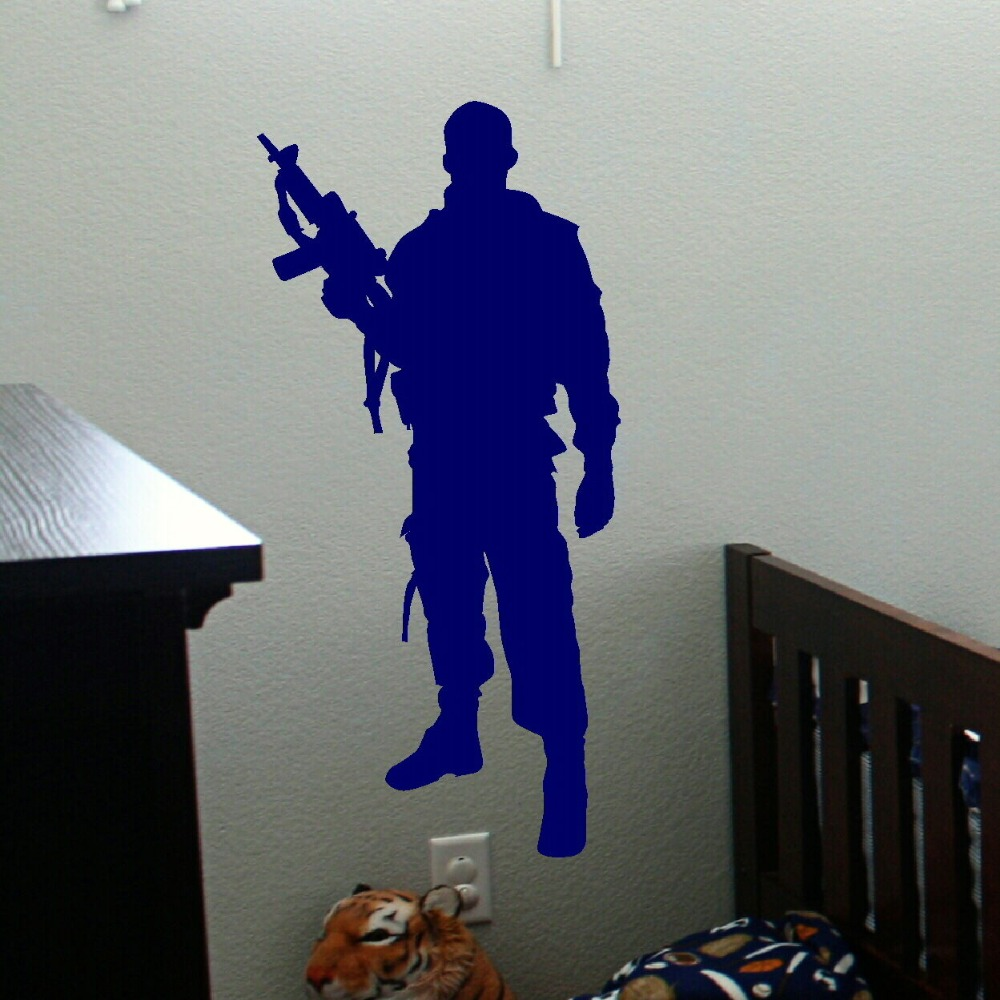 Military Army Soldier Wall Sticker Guns Wall Decal War Industry Boys Bedroom Decoration Wall Mural Military arms PAPER D-117(China (Mainland))