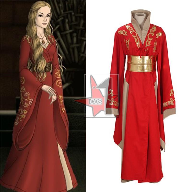 Популярный фильм Игра престолов косплей костюмы Красное длинное платье женские элегантные и классические платья для партии CN0789A