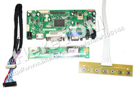 HDMI+VGA+DVI LCD Controller Board For B154EW08 Screen + 1c 6Bit 30 Pins LVDS cable+ One Lamp Universal Inverter+ Mini Keyvboard