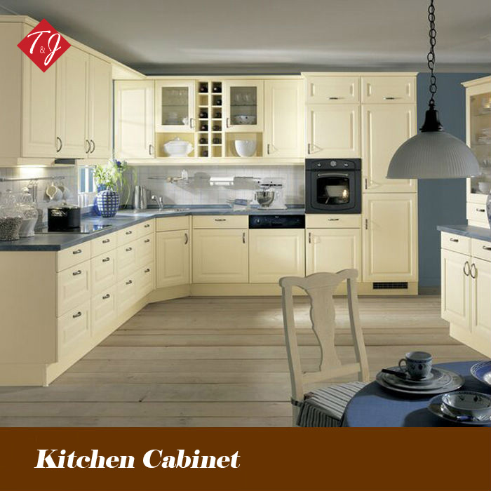 Modern PVC Finished euro style kitchen cabinet Free Design With Door-to-Door Service Gabinete De Cozinha PV05(China (Mainland))