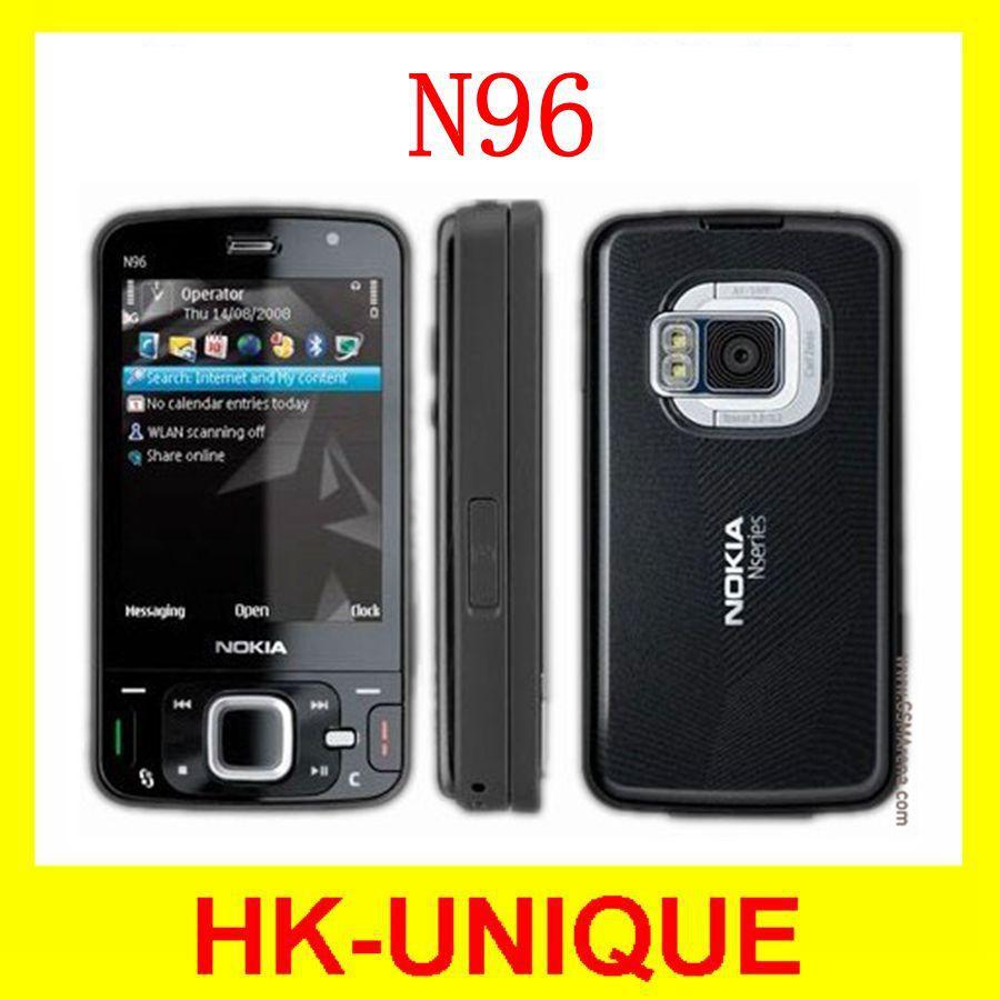 Original Unlocked Nokia N96 3G network WIFI GPS 16GB storage Cell Phones One Year Warranty In Stock(China (Mainland))