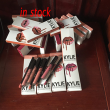 Hot Sale In Stock  Kylie Jenner lip kit cosmetic Kylie lipgloss liquid matte and lipliner 8 colors optional wholesale
