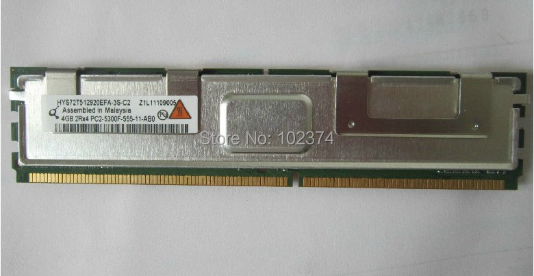 Server memory 4GB DDR2 667MHz FBD PC2-5300F 4G workstation ram Fully Buffered RAM for IBM X3650 X3500 X3550 X3400 HS21 Server(China (Mainland))
