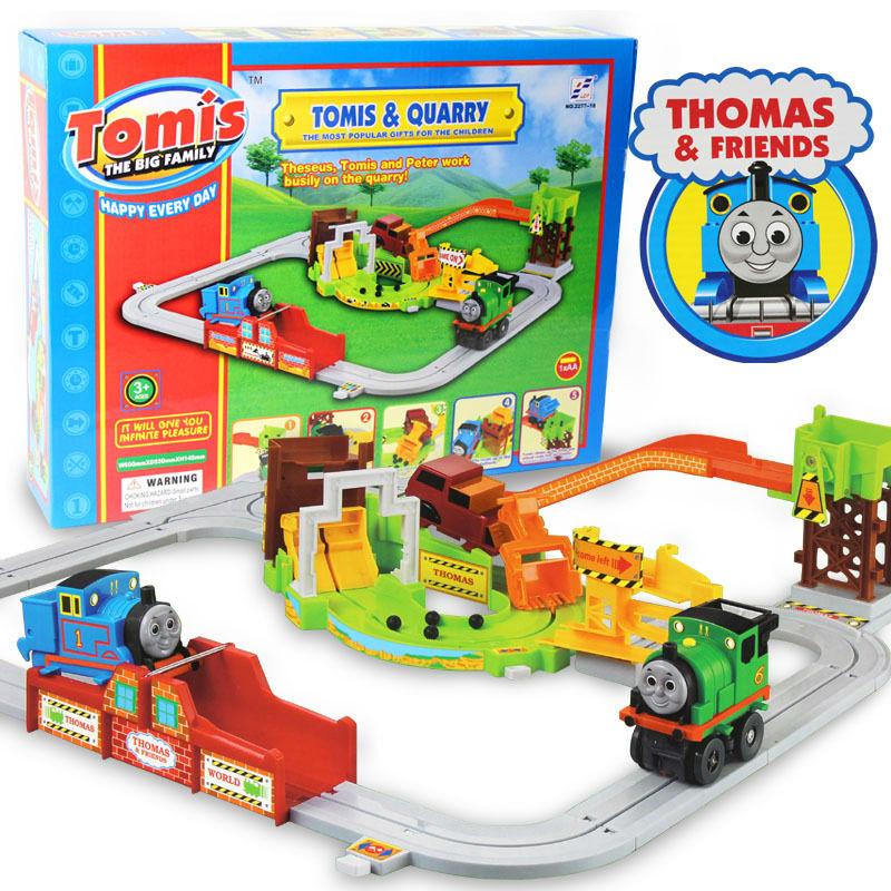 Child thomas,tomas and friend train railway,railroad rail track set electric auto locomotive kid toy gift for new year Christmas(China (Mainland))