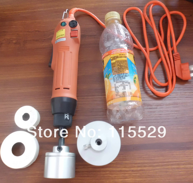 100% New Cheap Handheld Screw caps sealing Electric Plastic Water Bottle capping Machine 10-50mm - Party Supplies store
