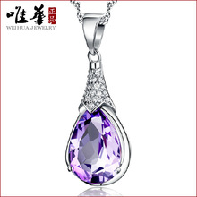 2015 luxury brand silver rhinestone necklace big colorful necklaces big crystal for women lady party wedding(China (Mainland))