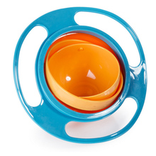Toddler Baby Gyro Feeding Toy Bowl Dishes Kids Boy Girl Spill Proof Universal 360 Rotate Technology Funny Gift Baby Accesories