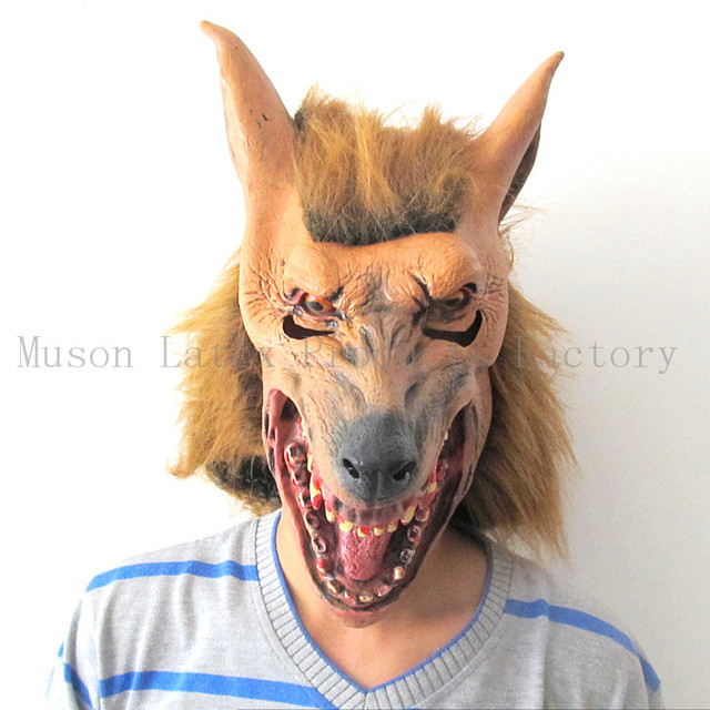 Latex Scary Wolf Halloween Wolf Head Masks Party Masks Halloween Devil Wolf Carnival Masks