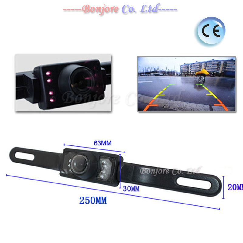 Auto Parking System License Plate Car Reversing Cam Back Up Parking IR LEDS infrared Night Vision Rear View Camera Free Shipping(China (Mainland))